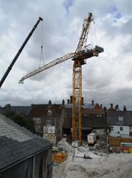 Tower crane arrives at Dorset County Museum!
