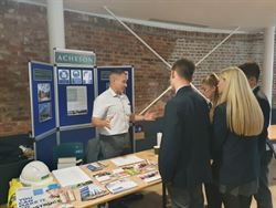 Acheson attend Lytchett Minster School careers fair
