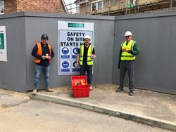 Site team proudly donate to charity