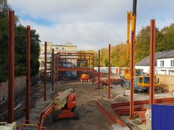 Steel frame arrives at Prince's Mead School