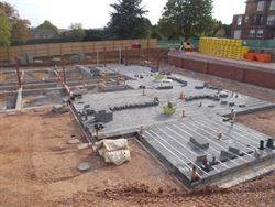 Sub-structure and drainage installed at Sherborne Care Home